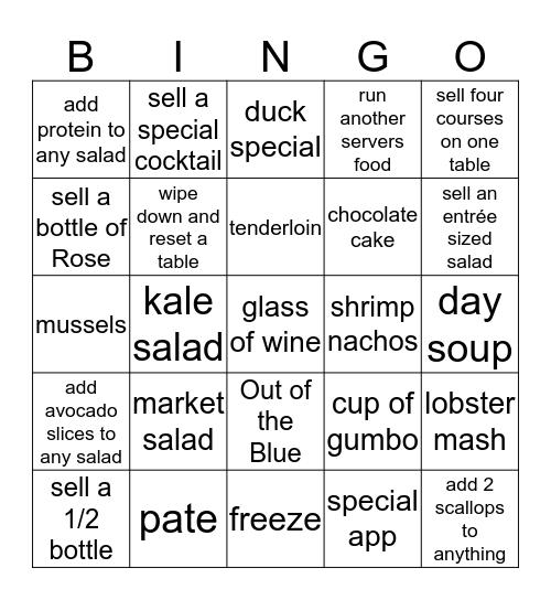 Cappy's Bingo Card