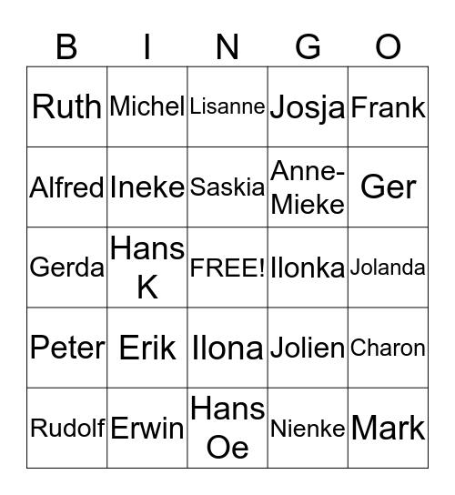 Nijrees foto-bingo Card