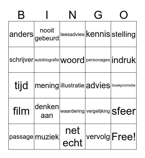 praatkaarten Bingo Card