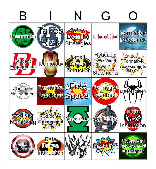 Lawrence Super Teacher Bingo Card