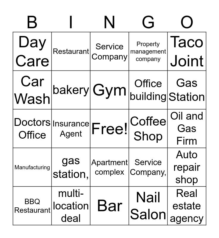 November sales promotion Bingo Card
