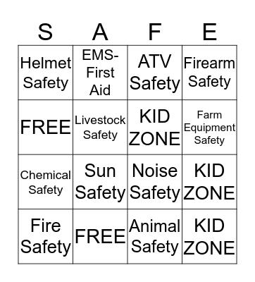 Progressive Agriculture Safety Day  Bingo Card