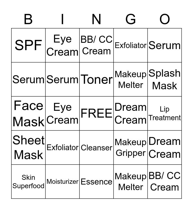 Skincare Solutions Bingo Card
