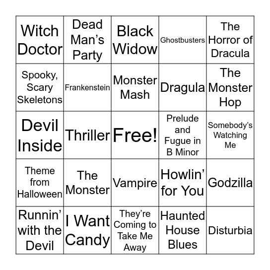OctoBOO! Bingo Card