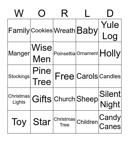 Joy To The Bingo Card