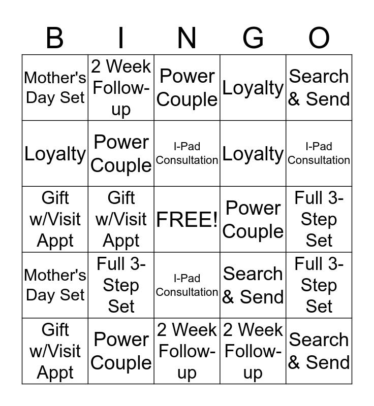 CLINIQUE Bingo Card