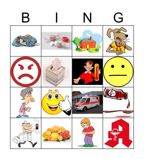 ICH BIN KRANK! Bingo Card