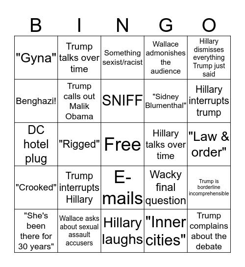 MAKE BINGO GREAT AGAIN Bingo Card
