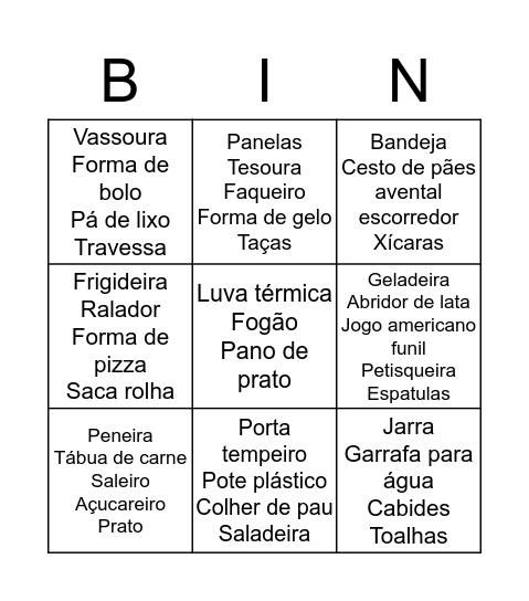 cha Bingo Card
