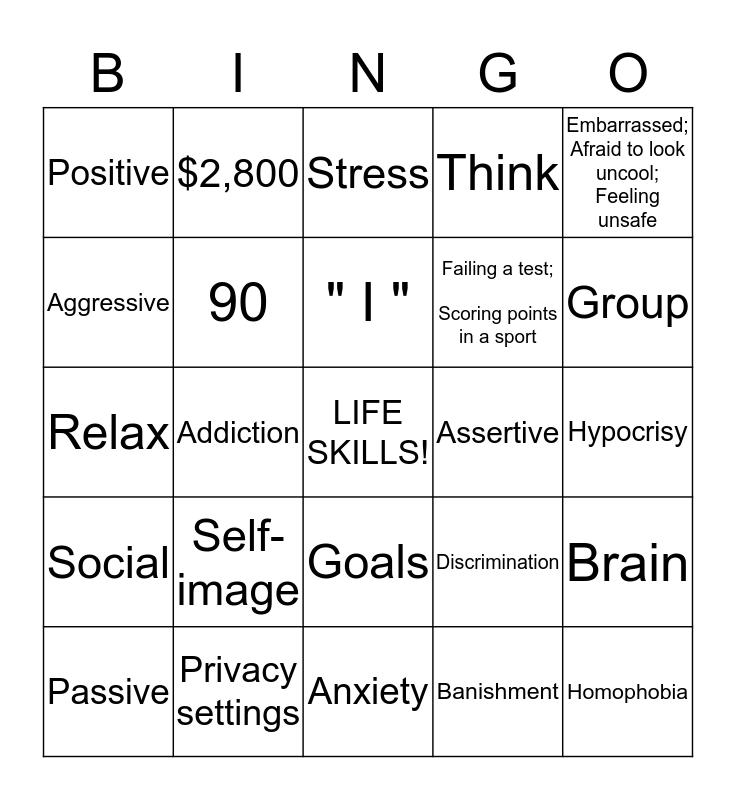 LIFE SKILLS REVIEW Bingo Card