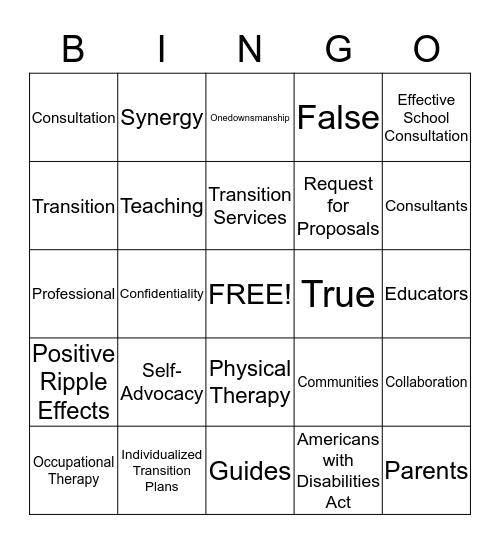 Chapter 13 & 15  Bingo Card