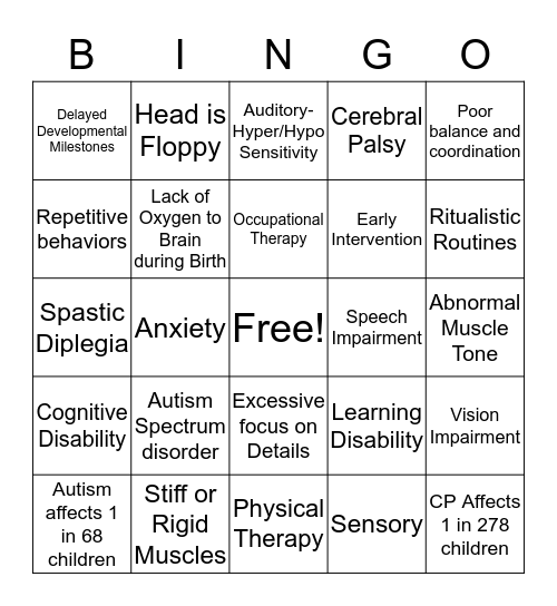 A Day in the Life of Meagan Bingo Card