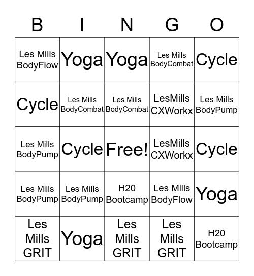 Fall Fitness Bingo Card