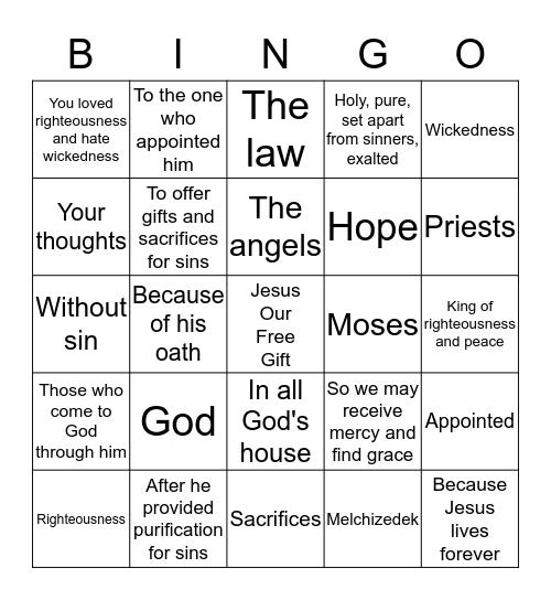 5TH SUNDAY GAMES Bingo Card