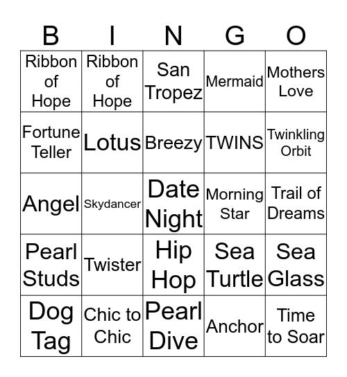 Audrina** Bingo Card