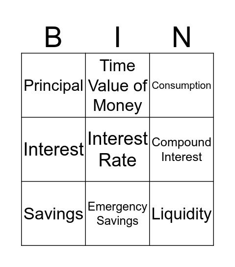 Choose to Save Bingo Card