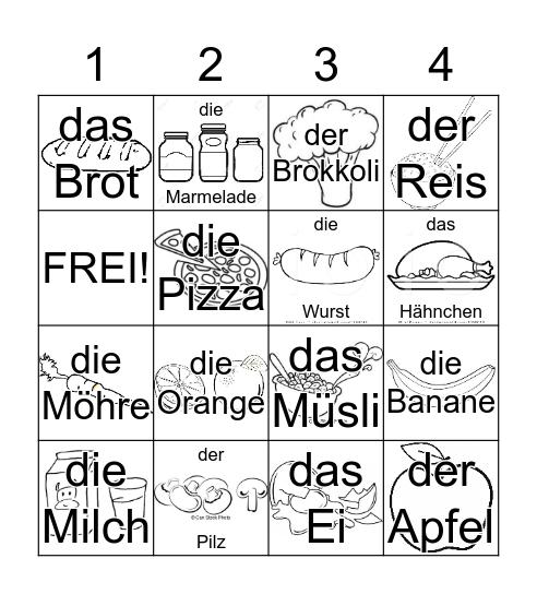 Auf dem Markt Bingo Card