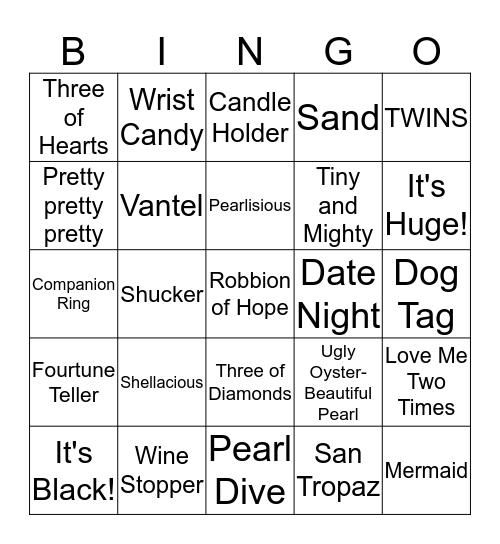 Pearl Bingo  Bingo Card