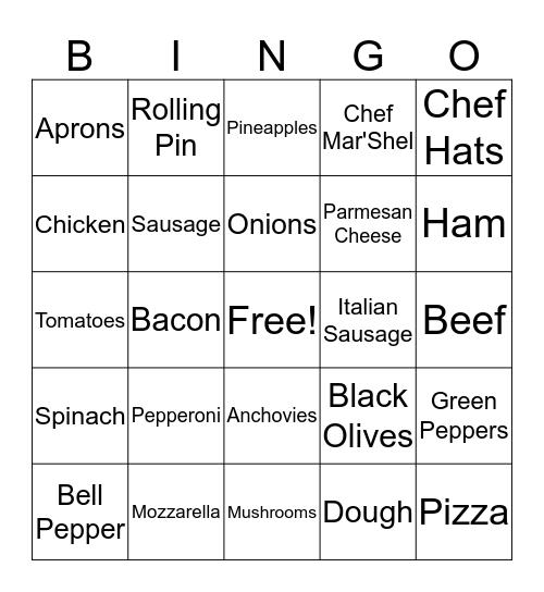Chef Shel's 8th Birthday Party Bingo Card