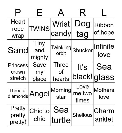 Pearl Dive Bingo Card