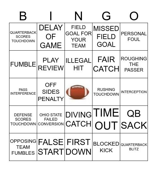 GAME DAY BINGO 6 Bingo Card