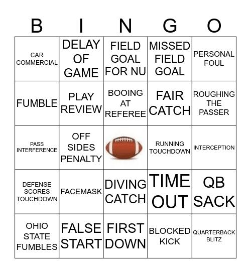 GAME DAY BINGO 10 Bingo Card