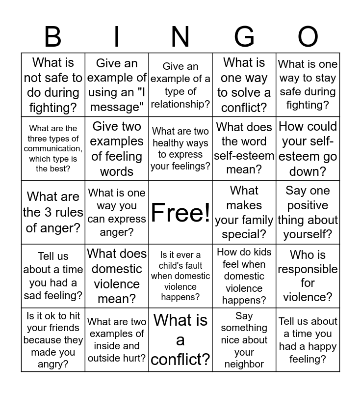 HERO REVIEW  Bingo Card