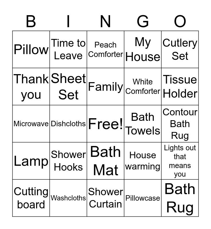 Untitled Bingo1 Bingo Card