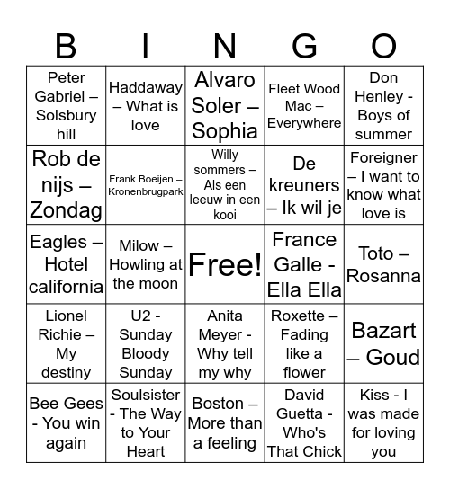 Crazy  Bingo Card