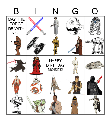 STAR WARS Bingo Card