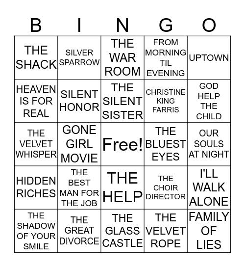 MILLENNIUM READERS BOOK Bingo Card
