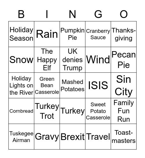 AG Bingo Card