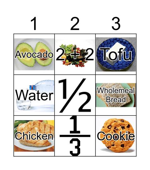 Food Bingo Game Bingo Card