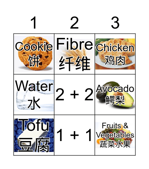 Food Bingo Game Bingo Card