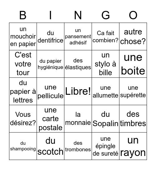 Comment faire des achats Bingo Card