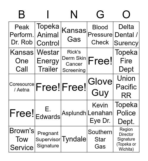 Health & Safety Wellness Fair                              (Name__________________________________) Bingo Card