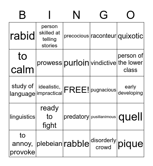 POWERPLUS 2 ✰ LESSON 16 Bingo Card