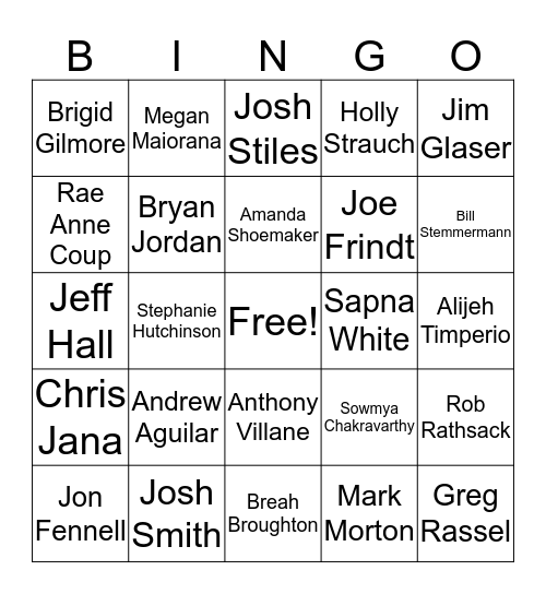 CCC HOLIDAY PARTY  Bingo Card