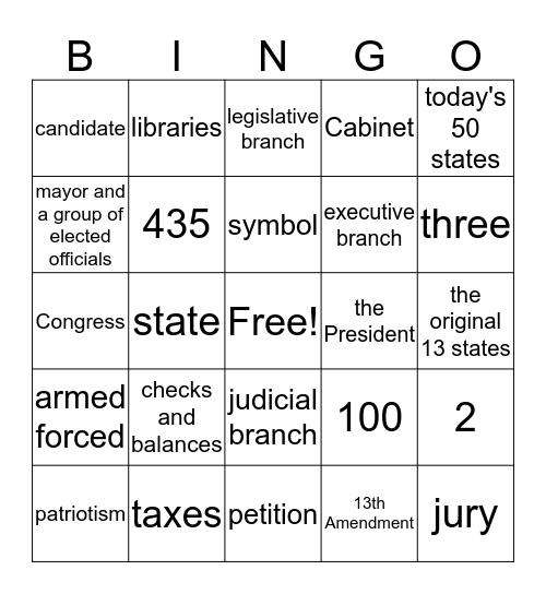 Social Studies - Chapter 3 Lessons 2-3 Bingo Card