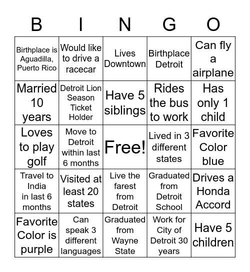 Department of Innovation and Technology Bingo Card