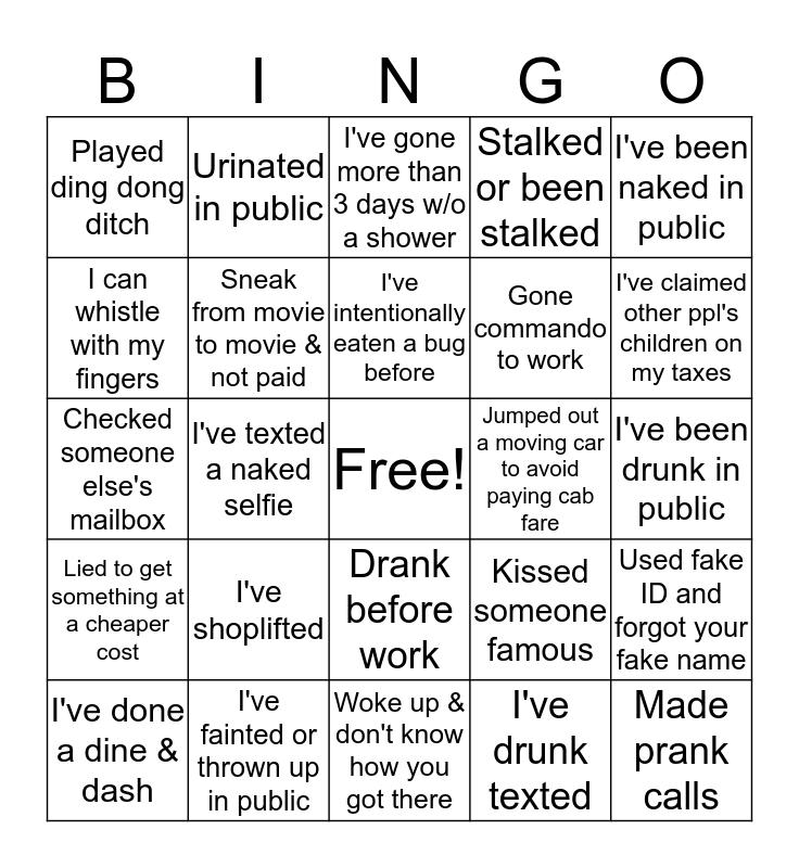 Quality Holiday Bingo Card