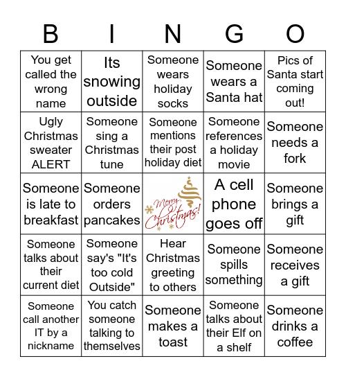 IBI Christmas Bingo! Bingo Card
