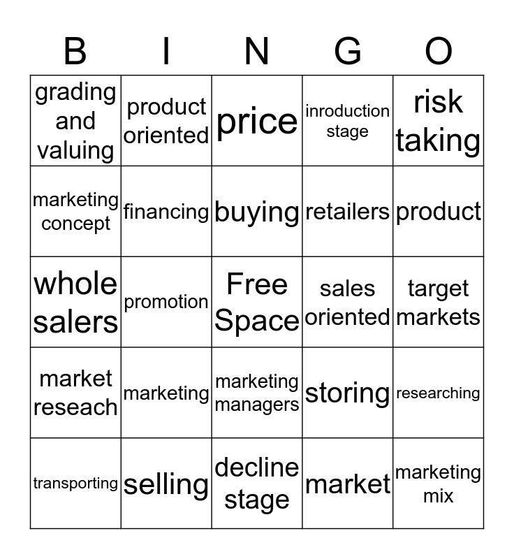 Chapter 20 business bingo Card