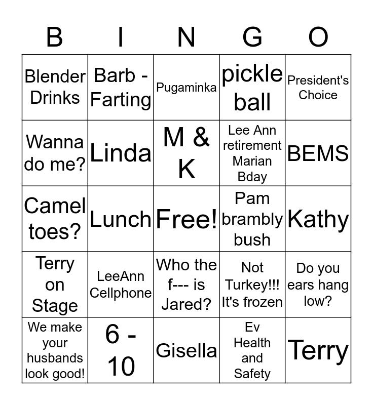 Veaver Xmas exchange Bingo Card