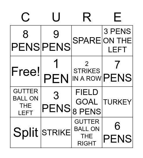 BOWLING FOR A CURE Bingo Card