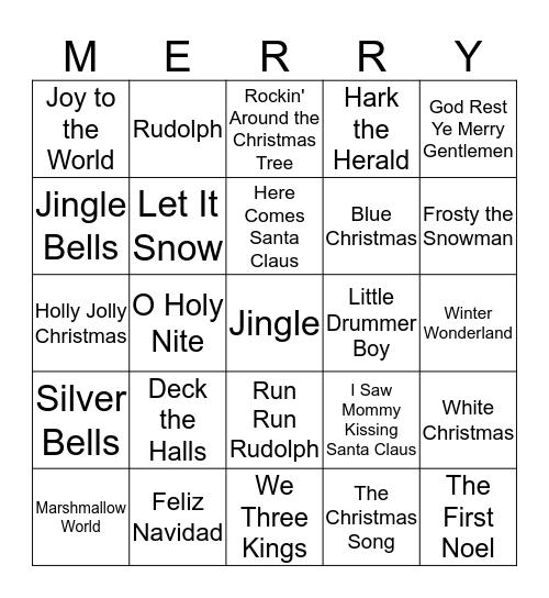 Christmas Tunes! Bingo Card