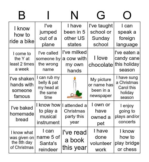 Life Experience Bingo Card