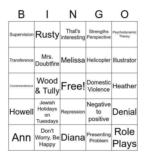 Never Forget the Fun We Had Bingo Card