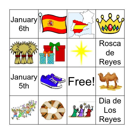 Three Kings Day Bingo Card