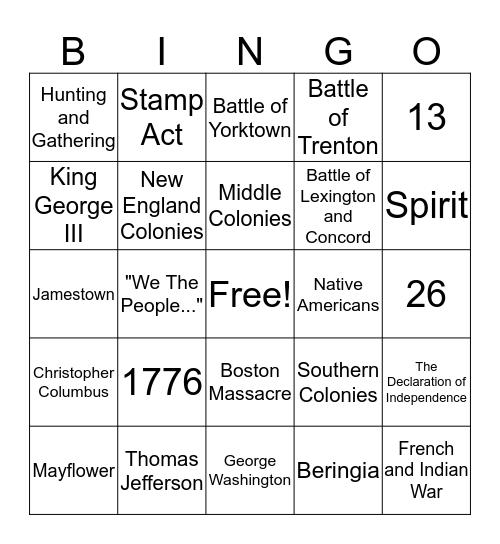 Grade 8... so far Bingo Card
